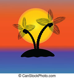 Palm Tree Silhouette