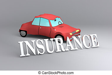 concept of car insurance - one toy car that had an accident...