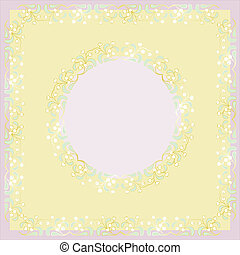 White Mistletoe vector frame