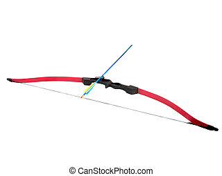 Bow and arrow - bow and arrow isolated on white background