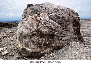 Volcanic Boulder - House-sized boulder spew from Mt Merapi...