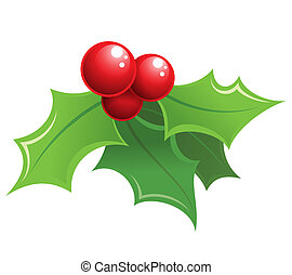 Cartoon shiny Christmas holly decorative ornament - Cartoon...