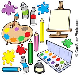 Fine arts collection 1 - isolated illustration.