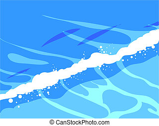 wave - simple illustration of breaking waves,