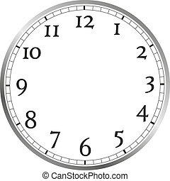watch face - large watch face with numerals, without watch...