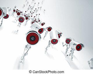 ccvt robot - 3d image of running robot cctv