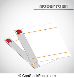 Blank lined paper, vector illustration