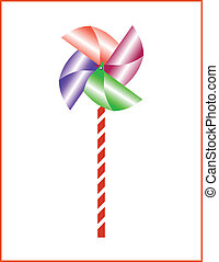 toy wind color vector illustration