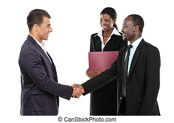 Business meeting  - Businessmen shaking hands