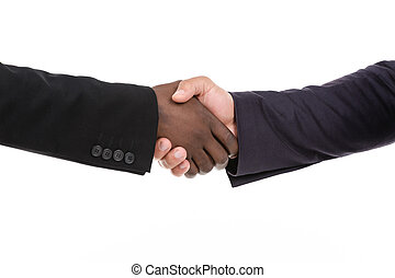 Business Deal - Two business men shaking hands