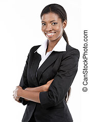African American Businesswoman - Portrait of a cheerful...