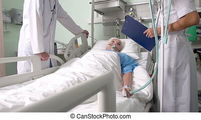 Stable condition - Elderly patient being in stable condition...
