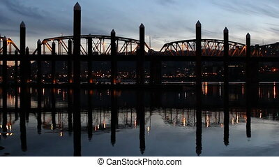 Portland Hawthorne Bridge Closeup - Portland Oregon...