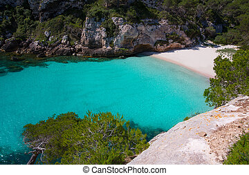 Cala Macarelleta in Menorca at Balearic Islands - Cala...
