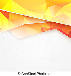 Background of orange waves and triangles illustration