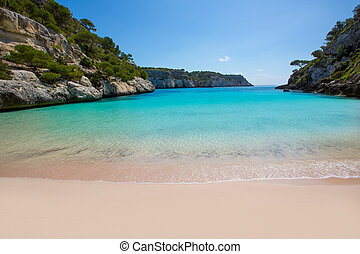 Cala Macarelleta in Menorca at Balearic Islands - Cala...