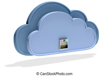 cloud computing - Cloud computing concept with network...