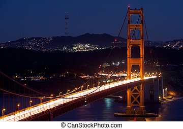 Golden Gate View at Night