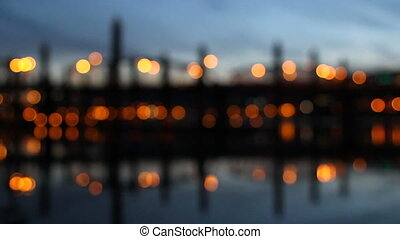 Portland OR City Lights Bokeh - Portland Oregon Downtown...