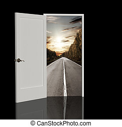 Road - The door open in the real world