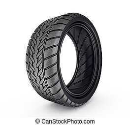 tyre - black tyre isolated on a white background
