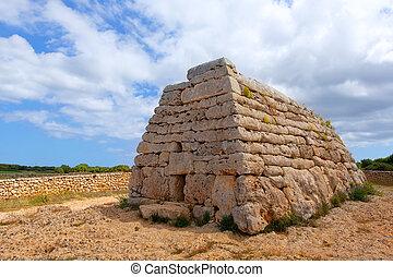Menorca Ciutadella Naveta des Tudons megalithic tomb -...