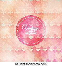 Vintage pink background with text