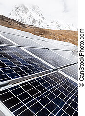 Solar Power Station in Himalaya mountains - Solar Power...