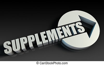 Supplements Concept With an Arrow Going Upwards 3D