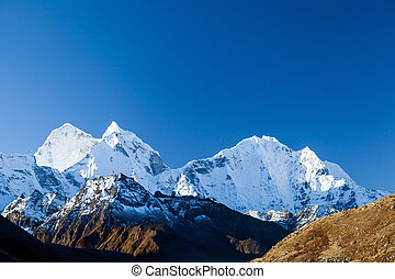Mountains landscape Himalayas - Mount Ama Dablam in Himalaya...