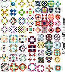 Set of abstract geometric icons shapes Can be used for...