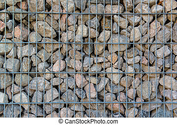 a stone retaining wall - Detail shot of a stone retaining...