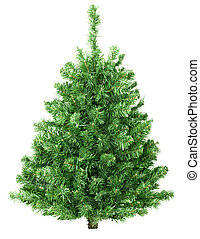 Christmas tree - Christmas tree isolated over white...