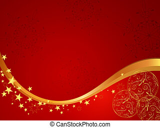 Christmas card - Vector illustration of stars and snowflakes...