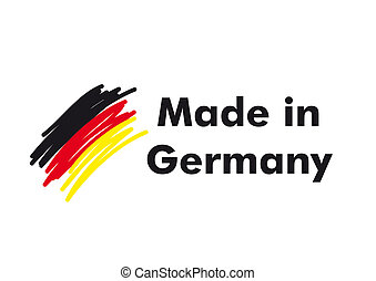 Made In Germany - Made in germany quality label on the white...