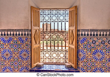 morrocan decorated window - decorated window with mosaics...