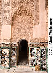 moroccan architecture - madrasa ben youssef architecture...