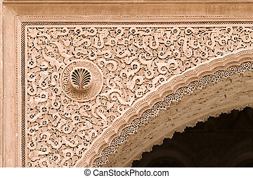 arabic ornated archway - arabic sculpted archway detail in...