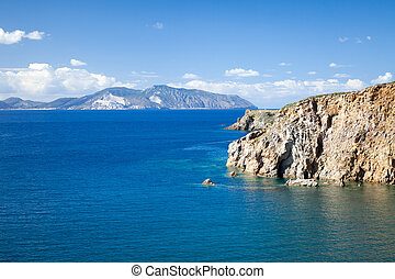 Lipari Islands - An image of the active volcano islands at...