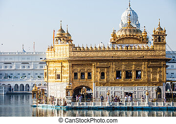 Sikh gurdwara Golden Temple (Harmandir Sahib). Amritsar,...