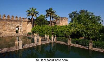 Alcazar in Cordoba, Spain - Alcazar de los Reyes Cristianos...