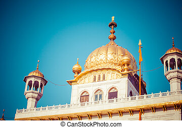 Sikh gurdwara Golden Temple Harmandir Sahib Amritsar,...