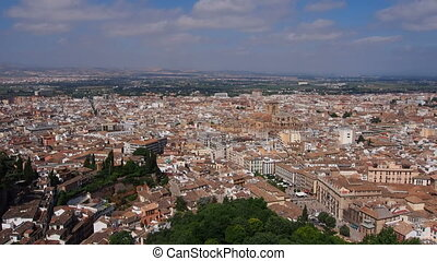 Granada, Spain - Cityscape of Granada - beautiful city in...