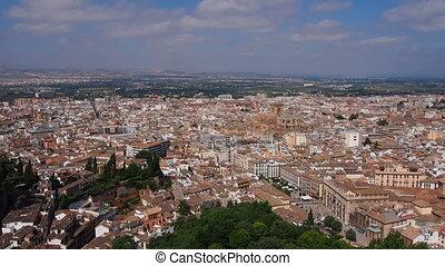 Granada, Spain - Cityscape of Granada - beautiful city in...