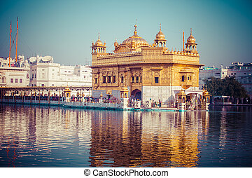 Sikh gurdwara Golden Temple Harmandir Sahib Amritsar,...