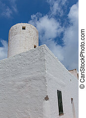 Menorca Sant Lluis San Luis old windmill in Balearic islands