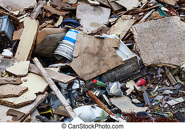 Pile of garbage - A pile of dirty garbage on a dump