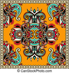 Traditional ornamental floral paisley bandanna You can use...