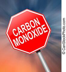 Carbon Monoxide concept. - Illustration depicting a sign...