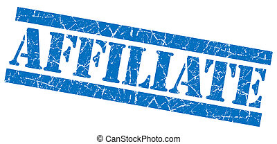 Affiliate grunge blue stamp